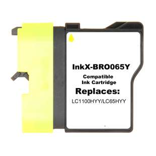 Compatible ink cartridge guaranteed to replace Brother LC65HYY - yellow