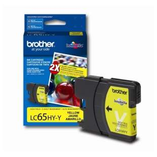 OEM Genuine Brother LC65Y high quality inkjet cartridge - yellow