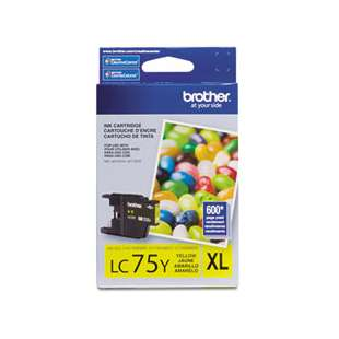 OEM Genuine Brother LC75Y high quality inkjet cartridge - yellow