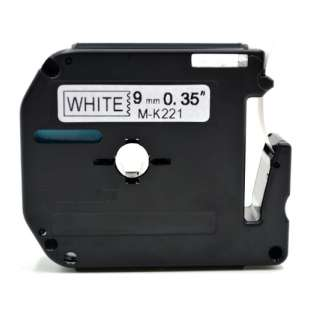 Compatible label tape for Brother M-K221 - black on white