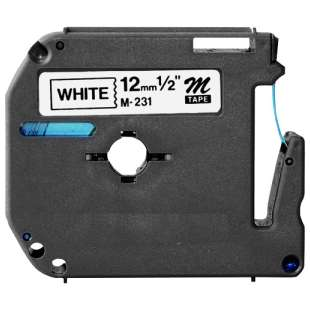 Compatible label tape for Brother M-K231 - black on white