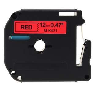 Compatible label tape for Brother M-K431 - black on red