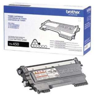 OEM Genuine Brother TN450 toner cartridge - high capacity black