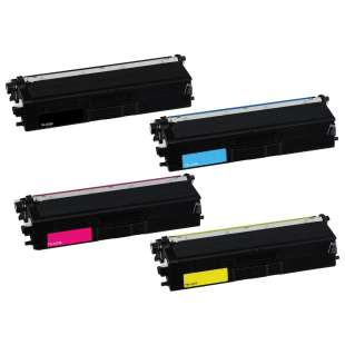 Compatible for Brother TN433BK / TN433C / TN433M / TN433Y laser toner cartridges - 4-pack