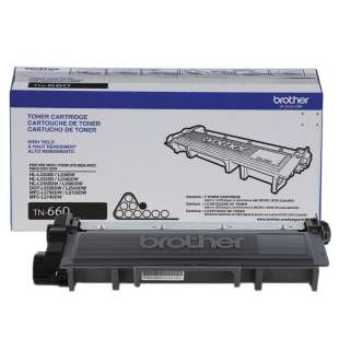 Original Brother TN660 toner cartridge - high capacity black