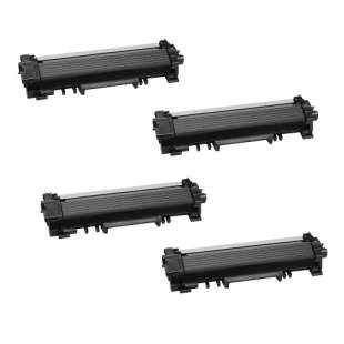 Compatible Brother TN730 toner cartridges - black - 4-pack