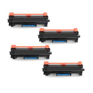 Compatible Brother TN760 toner cartridges - high capacity black - 4-pack
