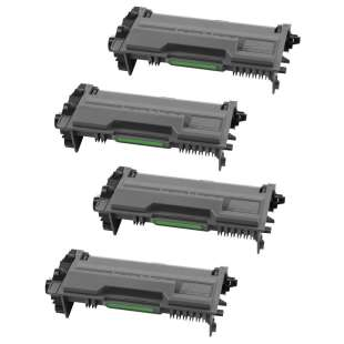 Compatible Brother TN880 (12,000 each yield) toner cartridges - black cartridge - 4-pack