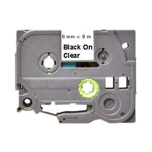 Label Tape - compatible for Brother TZe-111 - black cartridge on clear