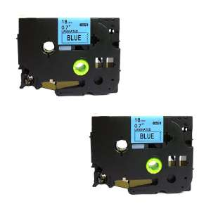 Compatible label tape for Brother TZe-541 - black on blue - 2-pack