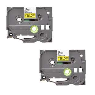 Compatible label tape for Brother TZe-631 - black on yellow - 2-pack