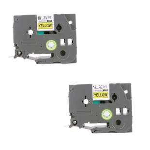 Compatible label tape for Brother TZe-641 - black on yellow - 2-pack
