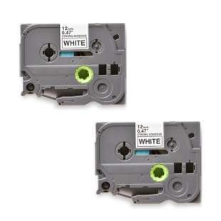 Compatible label tape for Brother TZe-S231 - black on white - 2-pack