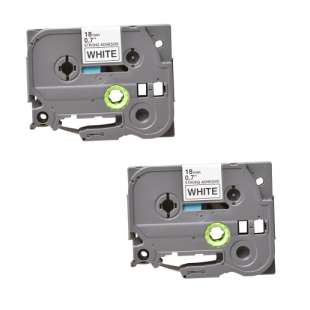 Compatible label tape for Brother TZe-S241 - black on white - 2-pack