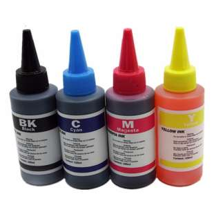 Universal Canon Ink Refill Kit (500 ml, includes 100ml each Black / Cyan / Magenta / Yellow / Photo Black) - includes 25-50 refills worth of ink