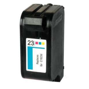 Remanufactured HP C1823A (HP 23 ink) high quality inkjet cartridge - color cartridge