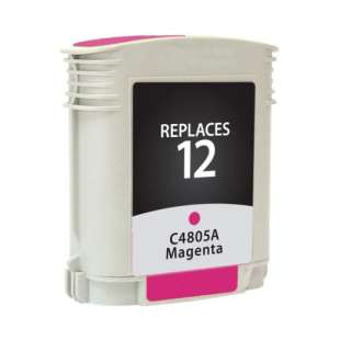 Remanufactured HP C4805A (HP 12 ink) high quality inkjet cartridge - magenta