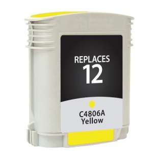 Remanufactured HP C4806A (HP 12 ink) high quality inkjet cartridge - yellow