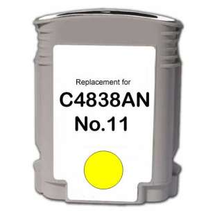 Remanufactured HP C4838a (HP 11 ink) high quality inkjet cartridge - yellow