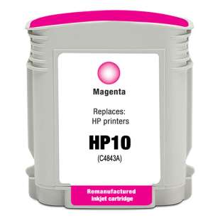 Remanufactured HP C4843A (HP 10 ink) high quality inkjet cartridge - magenta