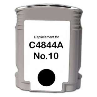 Remanufactured HP C4844A (HP 10 ink) high quality inkjet cartridge - black cartridge