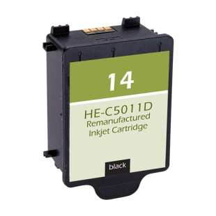 Remanufactured HP C5011AN (HP 14 ink) high quality inkjet cartridge - black cartridge