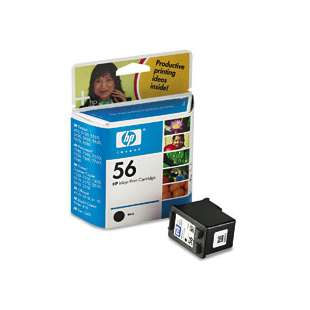 Original Hewlett Packard (HP) C6656 (HP 56 ink) high quality inkjet cartridge - black cartridge