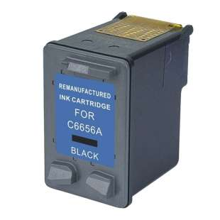 Remanufactured HP C6656AN (HP 56 ink) high quality inkjet cartridge - black cartridge