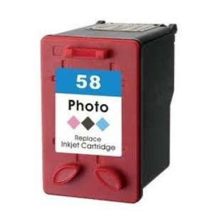 Remanufactured HP C6658 (HP 58 ink) high quality inkjet cartridge - photo