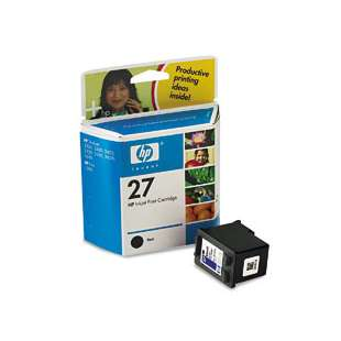Original Hewlett Packard (HP) C8727 (HP 27 ink) high quality inkjet cartridge - black cartridge