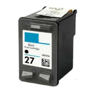 Remanufactured HP C8727AN (HP 27 ink) high quality inkjet cartridge - black cartridge