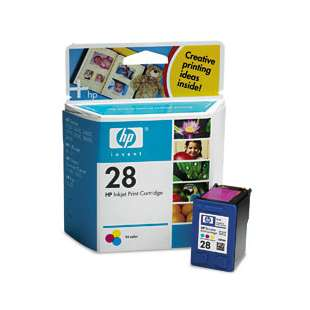 Original Hewlett Packard (HP) C8728 (HP 28 ink) high quality inkjet cartridge - color cartridge