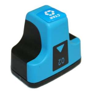 Remanufactured HP C8771WN (HP 02 ink) high quality inkjet cartridge - cyan