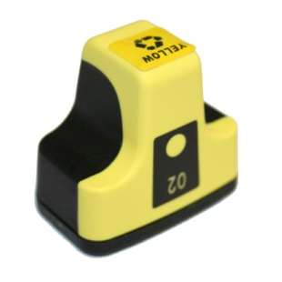Remanufactured HP C8773WN (HP 02 ink) high quality inkjet cartridge - yellow