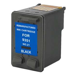 Remanufactured HP C9351AN (HP 21 ink) high quality inkjet cartridge - black cartridge