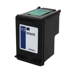 Remanufactured HP C9362 (HP 92 ink) high quality inkjet cartridge - black cartridge