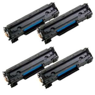 Compatible for Canon 125 toner cartridges - black cartridge - 4-pack