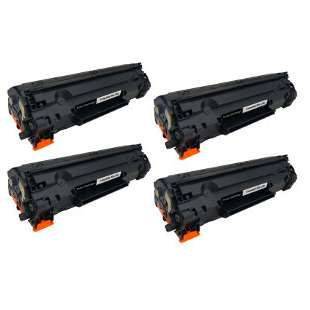 Compatible Canon 126 toner cartridges - black - 4-pack