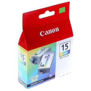 Genuine Brand Canon BCI-15C high quality inkjet cartridge - color cartridge - 2 pack