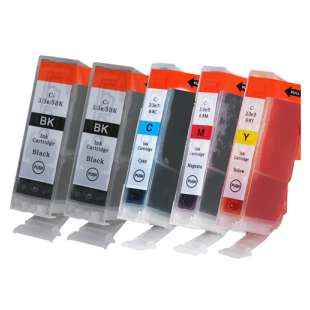 Compatible high quality inkjet cartridges Multipack for Canon BCI-3 - 5 pack