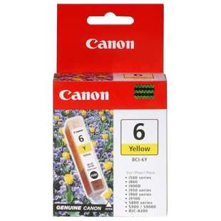 Genuine Brand Canon BCI-6Y high quality inkjet cartridge - yellow