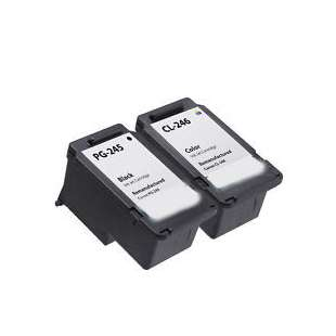 Compatible high quality inkjet cartridges Multipack for Canon PG-245 / CL-246 - 2 pack