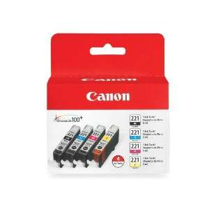 Genuine Brand Canon 2946B004 (CLI-221) Multipack - 4 pack