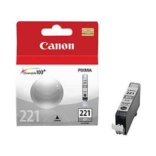Genuine Brand Canon CLI-221GY high quality inkjet cartridge - gray