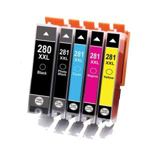 Compatible inkjet cartridges Multipack for Canon CLI-281 XXL / PGI-280 XXL - 5 pack