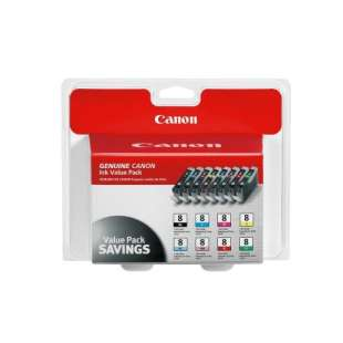 Genuine Brand Canon 0620B015 (CLI-8) Multipack - 8 pack