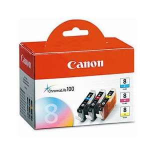Genuine Brand Canon 0621B016 (CLI-8) Multipack - 3 pack