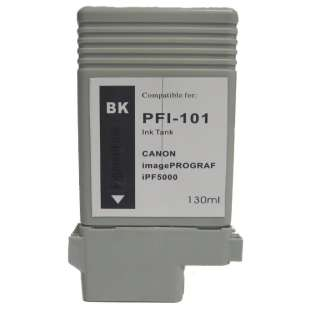 Compatible ink cartridge guaranteed to replace Canon PFI-101BK - black cartridge
