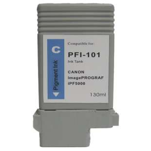 Compatible ink cartridge guaranteed to replace Canon PFI-101C - cyan