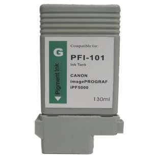 Compatible ink cartridge guaranteed to replace Canon PFI-101G - green